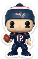 Tom Brady Cartoon Character Type New England Patriots Die-Cut MAGNET