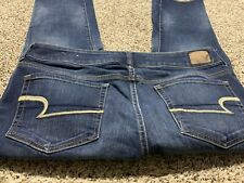AE AMERICAN EAGLE OUTFITTERS ARTIST CROP SUPER STRETCH WOMENS JEANS SIZE 12