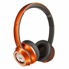 Monster NCredible N-Tune On-Ear Wired Headphones V2 Collection with Mic, Orange