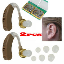A Pair of Digital Hearing Aid Aids Kit Behind the Ear BTE Sound Voice AmplifieEO