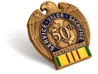 NEW Vietnam War 50th Anniversary in-Theater Veteran Commemorative Insignia Pin
