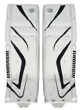 """New Warrior Messiah Pro goalie leg pads white/black 34""""+2 ice hockey senior goal"""