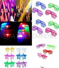 Shutter LED Glow Blinking Rave LED glasses Light Up Flashing Glasses Party LOT