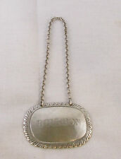 EARLY AMERICAN STERLING SILVER BOTTLE TICKET by BALL TOMPKINS & BLACK, NYC