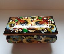 Vintage. Casket. Russian hand-painted jewelry box by artist L.N. Dokina.