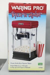 Waring Pro WPM 28 10-Cup Popcorn Maker Red/Black - Open Box