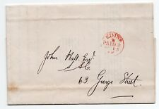 North British Railway Company form with Red Edinburgh paid with 1/2d cds pmk.