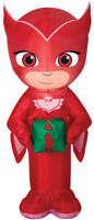 CHRISTMAS PJ MASKS OWLETTE PRESENT GIFT  SANTA AIRBLOWN INFLATABLE 3.5 FEET