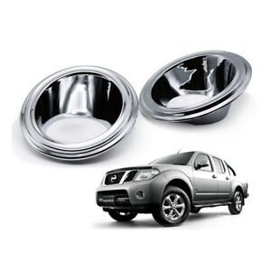 For Nissan Navara D40 Pickup 2006 2008 10 Fog Lamp Spot Light Cover Chrome Trim