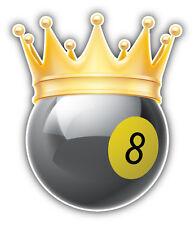 Billiard Ball Golden Crown Car Bumper Sticker Decal 4'' x 5''