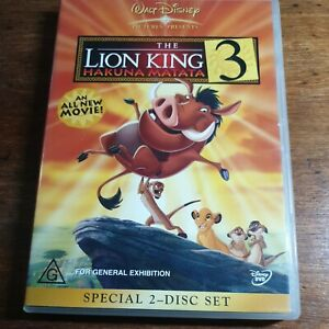 The Lion King 3 Hakuna Matata DVD R4  FREE POST EXRENTAL