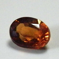 Stunning burnt orange natural oval shaped hessonite garnet gemstone..1 Carat.