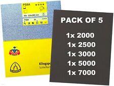 Wet and Dry Sandpaper 60 - 7000 Grit Klingspor / Starcke Matador Mixed Paper 1 Sheet P 3000