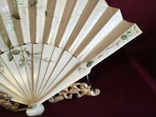 Victorian Fan, Hand Painted Muted Colors