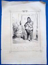 Lithographies originales de Bouchot,Trop tôt trop tard, impr Ambert et cie, XIXe