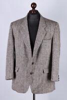 Harris Tweed Wool Vintage Blazer Jacket Size  L / UK44 / EU54 / IT54