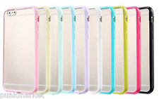 Lots OF 5 x iPhone 6 6s Thin Slim Soft TPU bumper frame PC Hard back clear cover