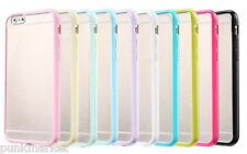 10 x Apple iPhone 6 Thin Slim Soft Tpu bumper frame Pc Hard back clear cover