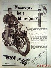 1950 Motor Cycle ADVERT - B.S.A. 500cc Original Vintage Print AD