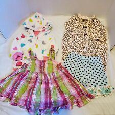 Lot Of 4 Girls 3-6 Month Dress Shortsb Romper Jacket Carter's Baby Q Little Me