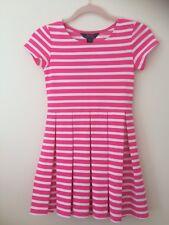 Polo Ralph Lauren, Niñas Vestido, Rosa y Blanco con rayas, de 8 años RRP £ 69