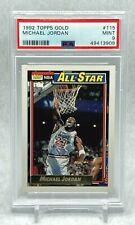 Michael Jordan 1992 Topps Gold All-Star #115 PSA 9 Mint NEW CASE Chicago Bulls