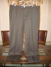"""ZANELLA """"Todd"""" brown flat front Super 120s dress pants size 34 x 31 Italy $350"""