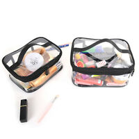 Clear Transparent PVC Travel Cosmetic Makeup Toiletry Wash Bag Pouch Zipper