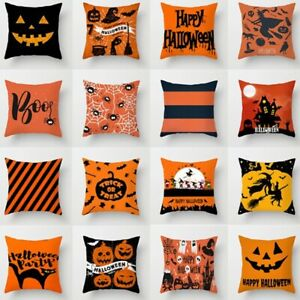Halloween Pumpkin Series Pillow Cases Home Sofa Fabric Pillow Cushion Covers