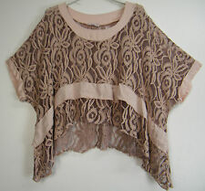 LAGENLOOK ITALIAN 100% COTTON LACY KAFTAN STYLE OVER TOP IN 6 COLS SIZE 12-20