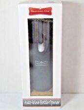 American Era Black Electric Auto Wine Bottle Opener Foil Cutter Stand Nib