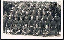 ALL NAMED - NO 8 PLATOON B COMPANY NO 16 PTC MANDORA BARRACKS ALDERSHOT 1942