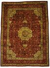 Classic Floral Hand-Knotted Signed Plush 10X13 Vintage Oriental Rug Decor Carpet