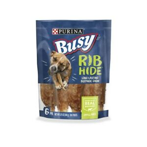 Purina Busy Rib Hide Long-Lasting Beefhide Chew For Small/Medium Dogs