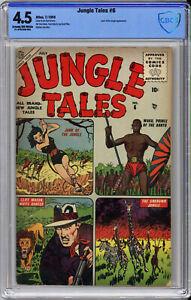 JUNGLE TALES #6 CBCS 4.5 - RARE ATLAS - 1952 - JANN Of The JUNGLE