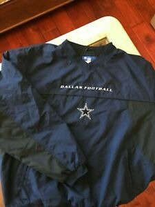 Dallas Cowboys Football Reebok Pullover Windbreaker, XL