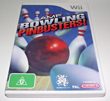 AMF Bowling Pinbusters Nintendo Wii PAL *Complete* Wii U Compatible