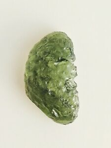 Moldavite 5.7g 28.5ct Perfect Shape&Color Very Transparent Forest Green
