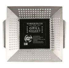 Grill Basket - Heavy Duty Stainless Steel Vegetable Fish Bbq Grill Pan Large