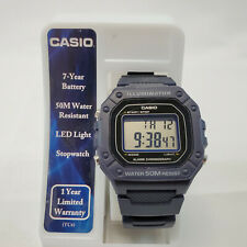 Casio Iluminator W218H-2AVT, 50 Meter Chronograph Watch with Alarm Blue