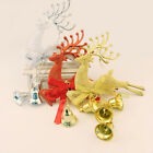 1x Xmas Tree Deer Bells Ornaments DIY Decorations Hanging Pendant Christmas Gift