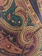"EUC Burberry's of London 100% silk necktie Brown & Green Paisley 57x3.5"""