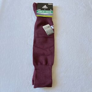 Men's Adidas Field Socks Maroon White Large New