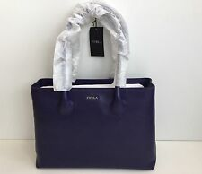Furla Martha Notturno purple Leather Medium Tote Hand Bag New with Tags