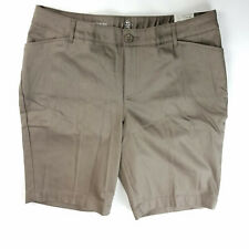 St Johns Womens Bermuda Shorts Brown Easy Fit Plus Size 18W NWT