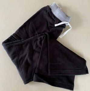 NWT HANNA ANDERSSON DOUBLE KNEE CARGO SWEATS PANTS SOFT BLACK 130 8 $29