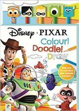 NEW Disney Pixar Colouring & Activity Book 5 Pencils & Erasers Kids Fun Art Gift