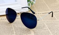 SILVER Frame Blu Specchio Aviator Retrò Classico Occhiali Da Sole UV400 Uomo Donna Regno Unito