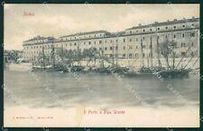 Roma Città Porto a Ripa Grande Barche cartolina QT1873
