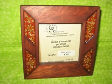 Picture Frame Dead Nature Flowers Made by Special Needs People Mexican Xmas Gift